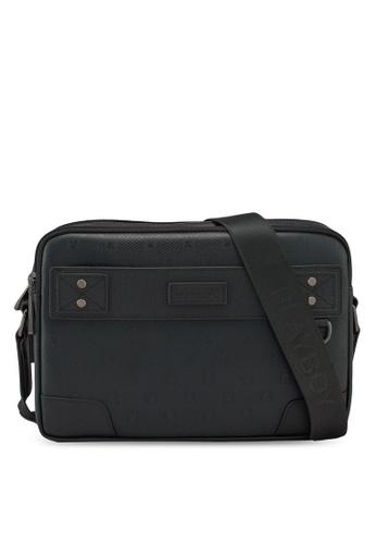 Playboy black Sling Bag 55D3AAC8401DB5GS_1
