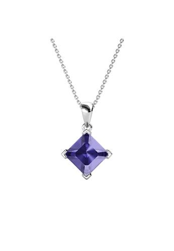 Her Jewellery purple Princess Square Pendant (Purple) - Made with Premium grade crystals from Austria E75E0AC657C9B6GS_1