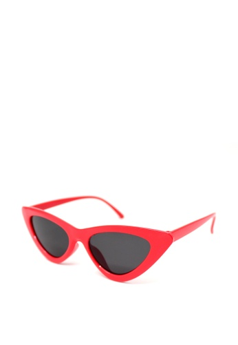 Peculiar and Odd red Retro Vintage Cat's Eye 9788 Classic Sunglasses A2157GL4DD0742GS_1