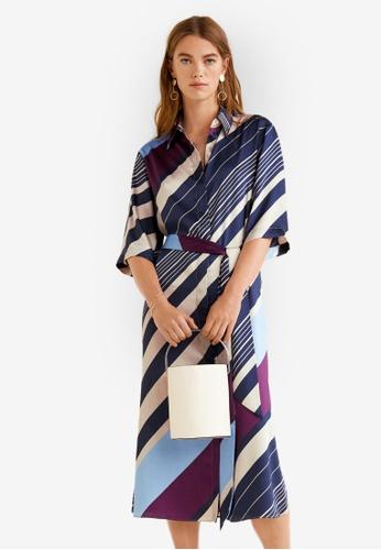 Mango blue Printed Shirt Dress 72EC5AA5881B55GS_1