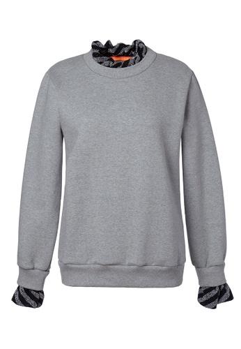 LANG&LU grey Hermoso Sweat Shirt 3C90CAA59C631BGS_1