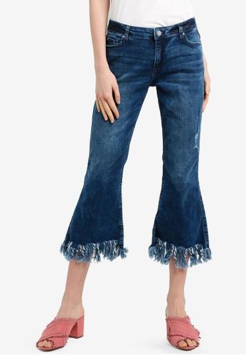 ESPRIT blue Denim Cropped Pants EF141AA9D6B98EGS_1