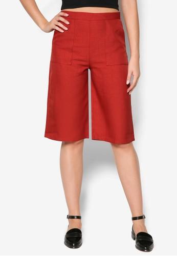雙口袋五分寬esprit分店管褲, 服飾, 服飾
