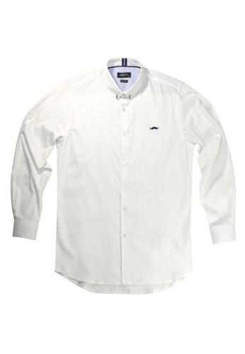 Private Stitch white Private Stitch Signature Moustache Shirt 39AE5AA9DA54C4GS_1