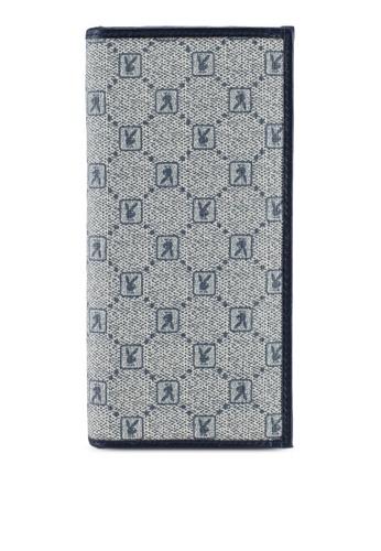 Playboy blue Rfid Blocking Bi-Fold Long Wallet E0E8BAC2B2FC00GS_1