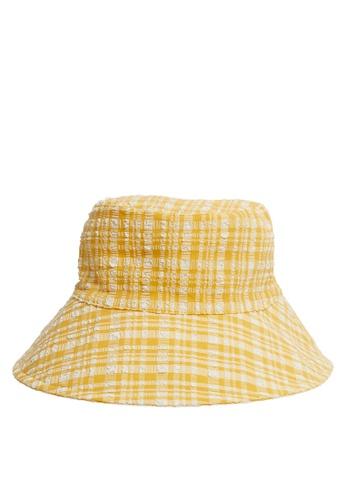 Mango yellow Texture Bucket Hat 2B5F8ACB1B6E3BGS_1
