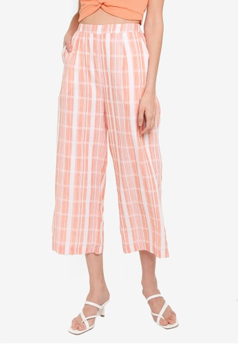 Mink Pink white and pink Stripe Culottes 639E6AAD8EAB69GS_1