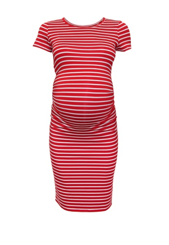 9months Maternity red Red Maternity Perfect Fit Midi Dress 66047AA1B2B481GS_1