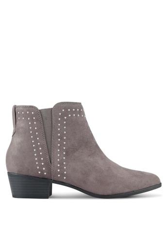 Dorothy Perkins grey Grey Mila Stud Ankle Boots DO816SH0RSPBMY_1