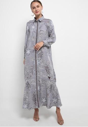 Kamilaa by Itang Yunasz grey Gamis Modern Etnik 1DD77AA460A462GS_1