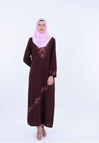 Ladies Jeans brown Jubah Embroidery 5BE7BAAB596846GS_1