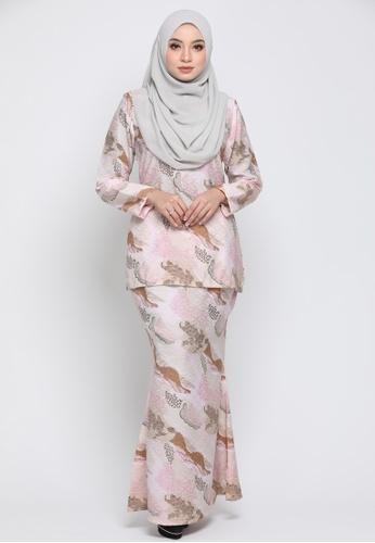 Kurung Moden Eryna - Pink from Nur Shila in Pink