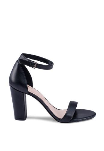 ALDO black Jerayclya Open Toe Ankle Strap Block Heels 475E8SH9A085F0GS_1