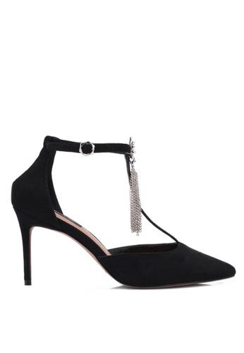 ZALORA black T-Bar Pointed Toe Heels FB9BAZZE3C848FGS_1