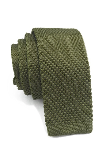 Splice Cufflinks Interlace Series Olive Green Knitted Tie SP744AC00KSTSG_1