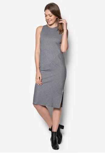 羅紋無zalora鞋袖連身裙, 服飾, 正式洋裝