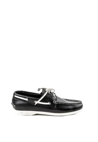Otto black Casual Boat Shoes 4BD6ASHF0D5E16GS_1