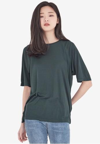 NAIN green Casual Tee 04F6BAA706A0ABGS_1