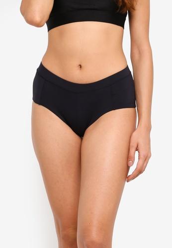 Cotton On Body black Catalina Panelled Boyshort Bikini Bottom 56FBCUS17B203AGS_1