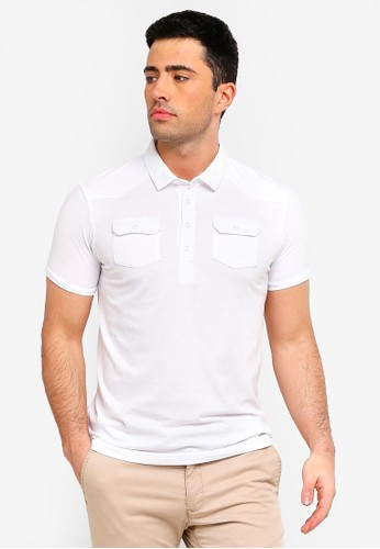 Brave Soul white Frazer Short Sleeve Polo Shirt 37C60AA4C6979AGS_1