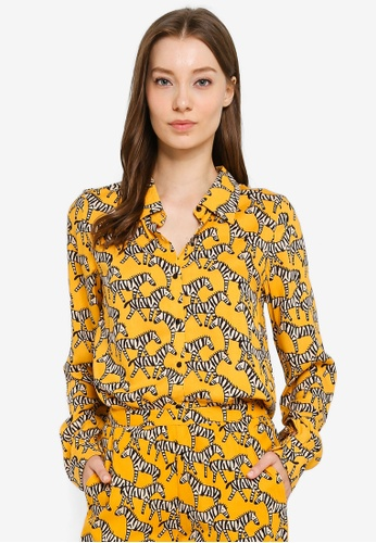 Compania Fantastica yellow and multi Zebra Shirt 04D22AADA52281GS_1
