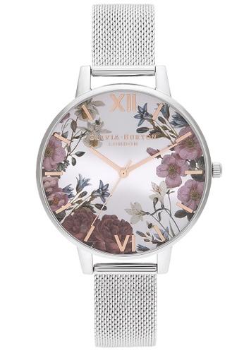 Olivia Burton multi Olivia Burton British Blooms Silver Women's Watch (OB16EG133) 742FEAC745E310GS_1