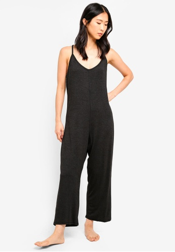 Cotton On Body black Sleep Recovery Racer Back Jumpsuit 684CAAA86A816EGS_1