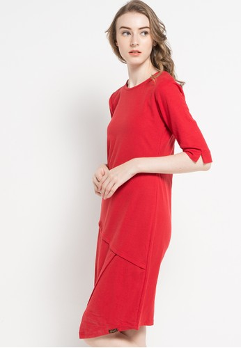 Gaff red Laurinda Dress Brukat Red GA640AA82GSRID_1