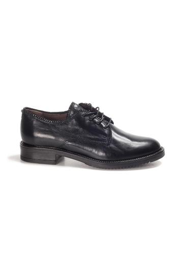 Shu Talk black LeccaLecca Comfy Nappa Leather Lace-up Oxford Shoes 7165ESHCB750F3GS_1