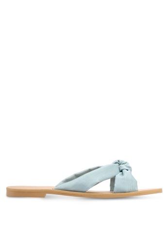ZALORA blue Soft Crossover Slip-On Sandals 38A27SHEC32513GS_1