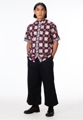 House Of Olsha white and purple and multi Cotton Batik Shirt - Malya D8231AA59FDF7BGS_1