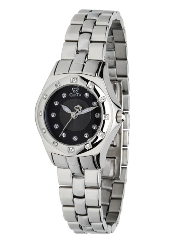 CLETA black and silver Manta Ray Watch CL733AC84FTVPH_1