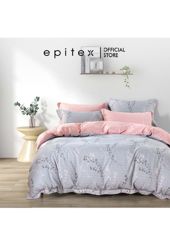 Epitex Epitex Hybrid Botanic Silk 1000TC Printed Bedsheet - Fitted Sheet Set - w/o quilt cover 2865BHLEEF070DGS_1