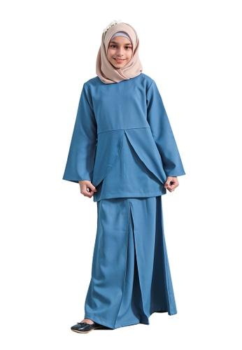 QUTN blue Arianna Kurung D487BKA01E3F53GS_1