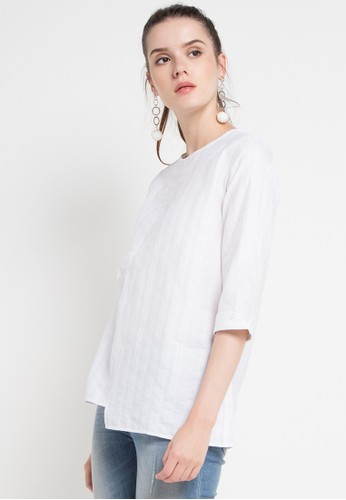 Point One white MIKAYLA White Blouse F3373AA4164A8EGS_1