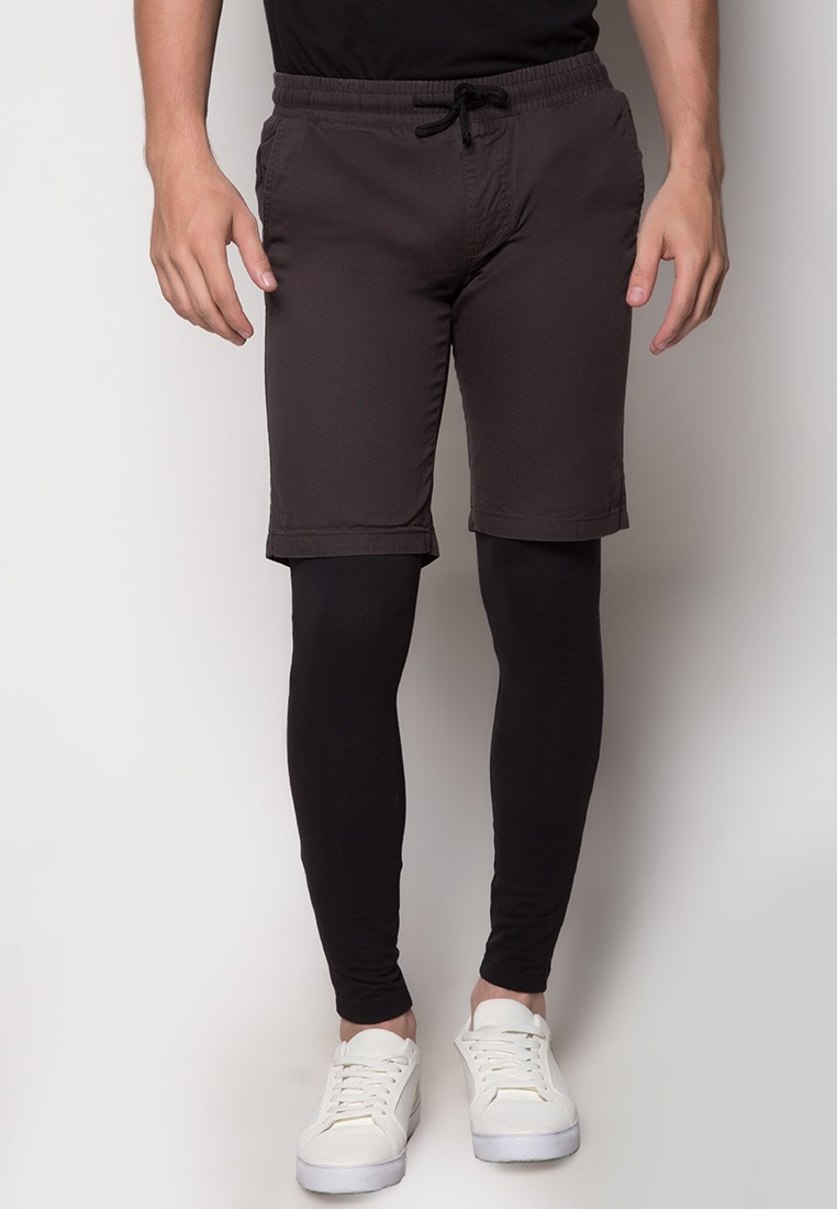 Mens 2-In-1 Shorts with Leggings