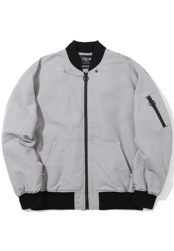 """Fivecm grey """"Made In Factory"""" bomber jacket 6E4EDAACB7267EGS_1"""
