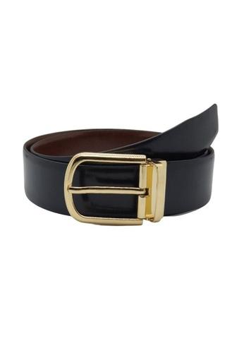 Oxhide black Black Formal Belt Men - Real Leather - Business / Office wear belt - Gold Palmilla Black F171AACDE45A2AGS_1