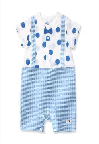 Organic mom blue Organic Cotton Beck Dotty Floral Onesie F83C2KACBF0713GS_1