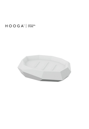 HOOGA white Hooga Toiletries Soap Dish Willow (Bundle of 2) C0298HLABC4593GS_1