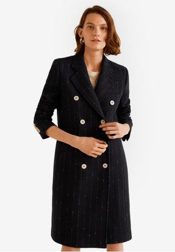 MANGO black Double-Breasted Wool Coat A5232AAF7142CFGS_1