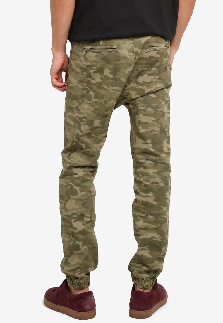 Cotton On Pants Down Washed Cuffed Camo Drake xTOqzz