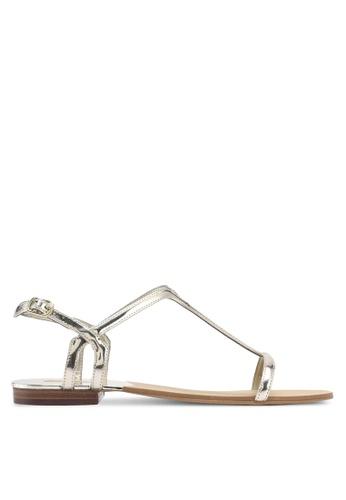 ALDO gold Adurien Flat Sandals 7B67ASHBF64855GS_1