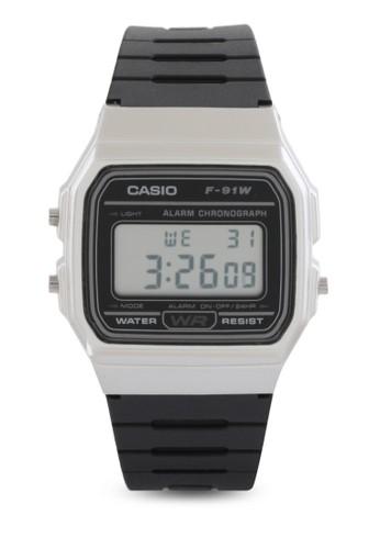 Casio black Casio Jam Tangan - Black Silver - Resin - F-91WM-7ADF 9A0F9ACDF083D6GS_1