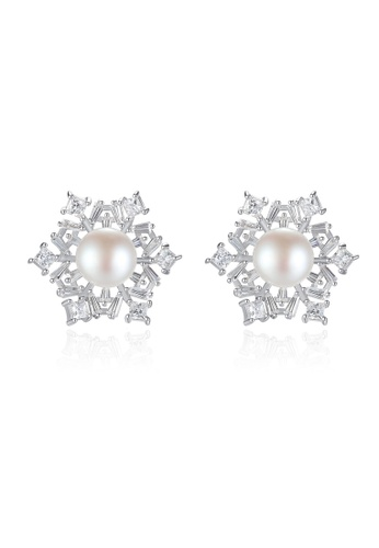 A.Excellence white Premium White Pearl Elegant Earring D51B0AC8C11F5FGS_1