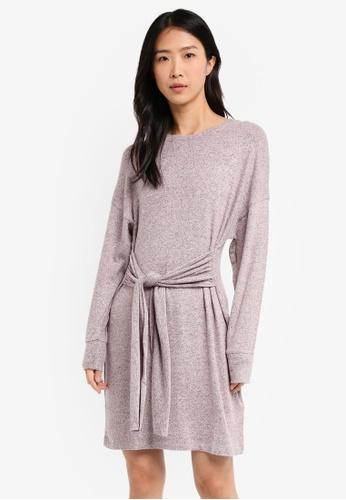 TOPSHOP pink Cut And Sew Jumper Dress 8935AAAC28F1A0GS_1