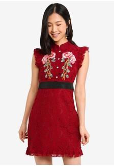 675637d33a Red Romance Felicia Embroidery Lace Cheongsam 2B30BAA4C40D8BGS 1