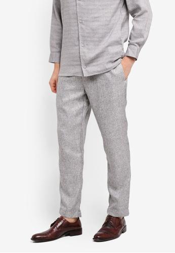 Zalia Homme grey Drawstring Pants 59823AA512ADBAGS_1