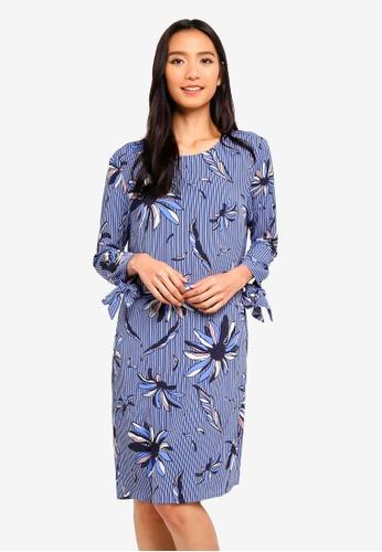 OVS blue Crepe Dress With All Over Print 3E9F0AA6670414GS_1