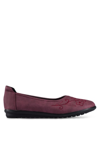 Louis Cuppers purple Embroidered Flats LO977SH0RX42MY_1